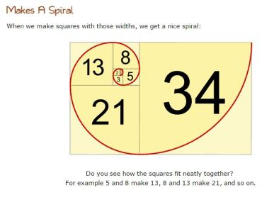 Math is simple Fib squares and spiral